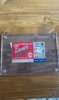 1939 Army Navy Football Game Ticket Chesapeake, 23325