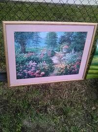 Enchanted garden 3ft x 3ft Framed Wall Art Washington