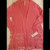 NWT NY Collection Lace Crochet Sweater Cardigan  Sarasota, 34233