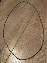 silver chain necklace with lobster lock TORONTO