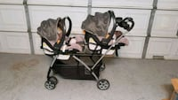 Double Stroller and Carseats with Covers Set Cypress, 77433