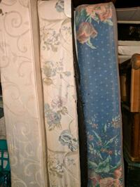 two white-and-blue floral mattresses Greenbelt, 20770
