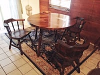 Solid wood Dining set with leaves and 2 bar stools SAINTPETERSBURG