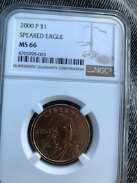 Sales for around 1000 on eBay graded ms 66 Spears eagle Springfield, 45504