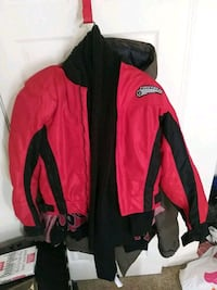 First Gear Motorcycle Jacket Red. And Black