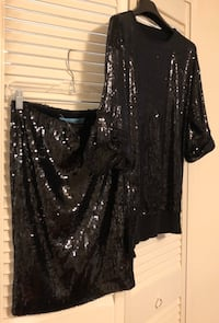 GUESS By Marciano Women's Stretchy Sequin Skirt & Blouse Toronto, M8X 2W4