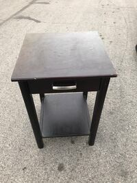 black wooden single drawer side table Las Vegas, 89115