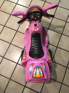 Pink Ride-On Motorcycle