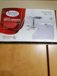 white Alpine Cuisine powerful meat grinder box Tempe, 85283