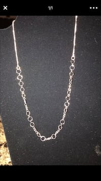silver chain link necklace with lobster lock Riverside, 92503
