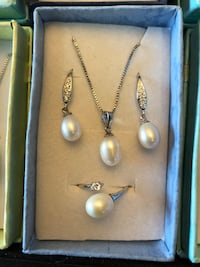 Brand NEW Silver plated Freshwater pearl Set Hamilton, L9C 6M3