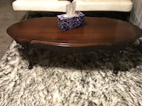Brown wooden coffee table with drawer Surrey, V3R