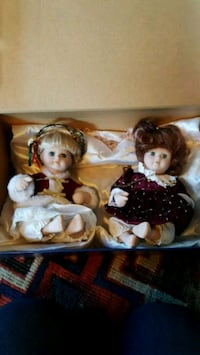 Christmas porcelain baby dolls