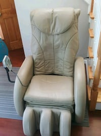gray leather padded rolling armchair Hackensack