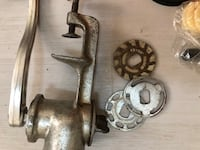 Meat grinder, attaches to table ,, vintage