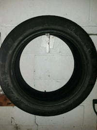 black car tire with tire Johnstown, 15906