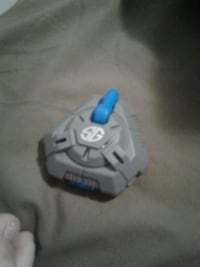 triangular gray and blue SG toy Alfred