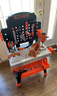 Black + Decker kids power tool work bench