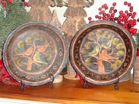 Vintage French Country Tole Painted Bird Decor Plates Platters Dishes Oklahoma City, 73012