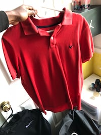 red and white Adidas polo shirt Clayton, 27520