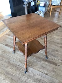 Antique oak bible table with brass eagle claw feet. Ottawa, K0A 2Z0