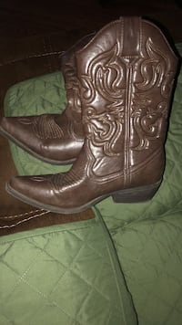 pair of brown leather cowboy boots Asheville, 28803