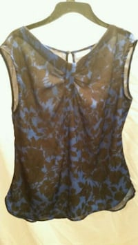 women's brown and blue floral tank top Lititz, 17543