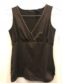 New York & Company Sleeveless Crossover Top - Size XS - Brown New Canaan, 06840