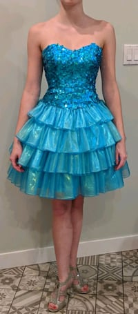 Blue Ruffle Dress
