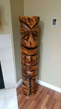 Custom hand carved totem purchased in key west FL  Poplar Grove