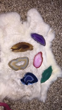 All pieces and rabbit fur.