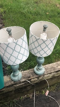 two white ceramic base table lamps Wappingers Falls, 12590