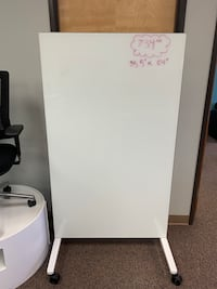 Glass Magnetic Mobile White Board