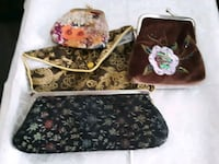black and brown floral leather handbag Richmond Heights, 63117