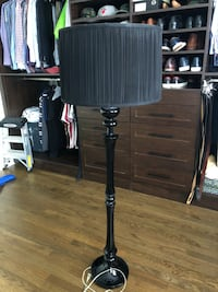 Room and Board Black Lacquer Floor Lamp Chicago, 60610