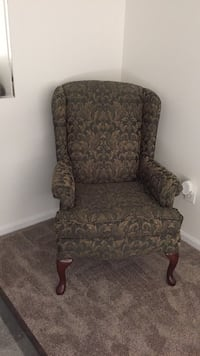 brown and gray floral fabric sofa chair Woodbridge, 22193