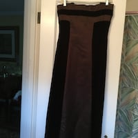 Brown velvet and satin gown Chevy Chase, 20815