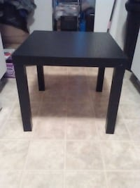 All black wooden end table Louisville, 40220