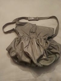 Grey Leather Benetton Hobo bag.