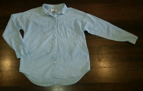Woman's Old Navy Boyfriend Style Shirt