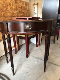 brown wooden single-drawer end table West Perth, N0K