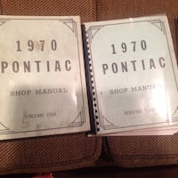 1970 pointiac shop manual volume one and two Fitchburg, 01420