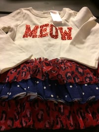 white, red and blue meow blouse New Brighton, 15066