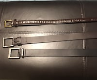 Black leather belt with silver buckle Maple Ridge, V4R 2W6