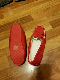 pair of red slip on shoes Bristow, 20136