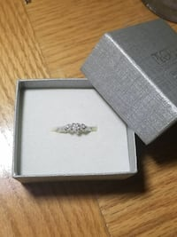 925 Sterling Silver Diamond Promise Ring