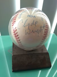 Clyde Wright/ Jared Wright Autograph Baseball  Orange, 92867