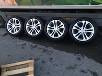 BMW X3 wheels with summer tires rest 4-5 mm Hafrsfjord, 4047