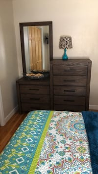 Bedroom set used only a few times. Mattress is cooling foam