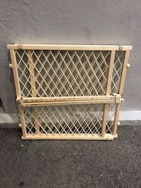 """Brand new wooden pet/baby gate...""""limited edition"""" colours  to choose from....sturdy construction Toronto, M1C 4N4"""